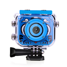 Kids Cam 2.0'' LCD 12MP 1080P HD Outdoor Sports Video Camera Camcorder 30M Waterproof Action Sport Camera Bike Helmet Sports DV original soocoo s20ws action camera waterproof 10m 1080p full hd bicycle cycling helmet mini outdoor sport column dv cam