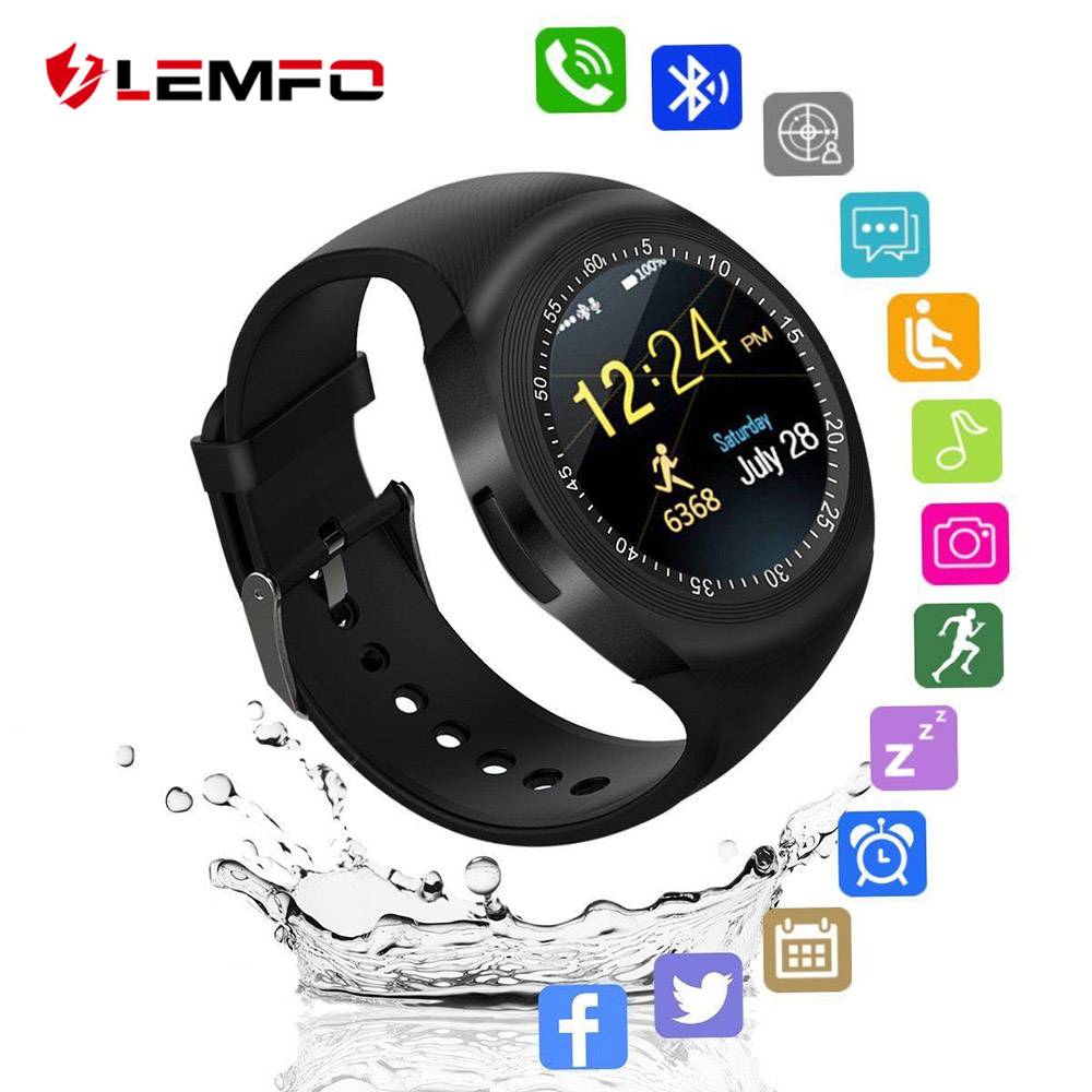 LEMFO Watch Smart Watch Men SIM TF Card Bluetooth Notefication Reminder Fashion Business Sport For Women's Watches Android IOS