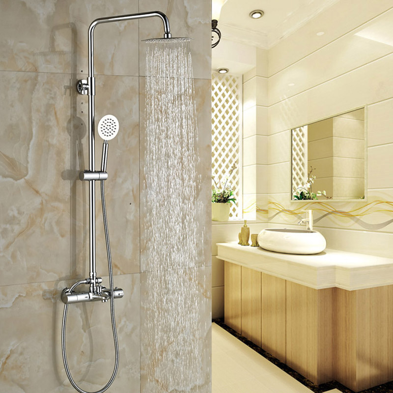 Luxury Bathroom Shower Thermostatic Mixer Tap Dual Handle Children ...