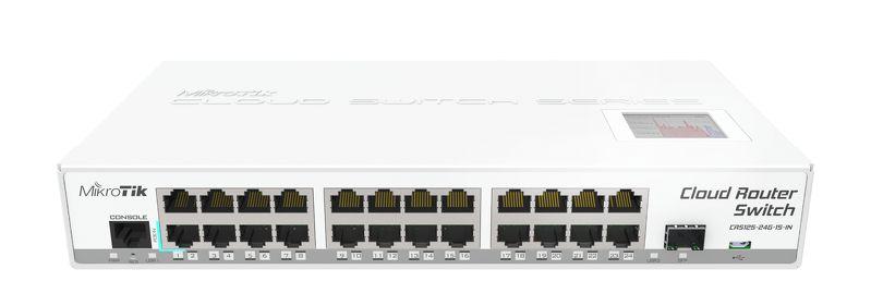 MikroTik CRS125-24G-1S-IN, Nuvem Roteador Gigabit Switch, 24x10/100/1000 Mbit/s Ethernet Gigabit com AutoMDI/X
