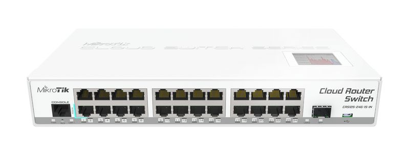 MikroTik CRS125-24G-1S-IN, Cloud Router Gigabit Switch, 24x 10/100/1000 Mbit/s Gigabit Ethernet with AutoMDI/X роутер mikrotik routerboard crs125 24g 1s in