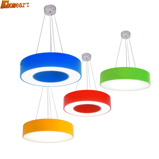 HGhomeart Garden Ring Cartoon Chandelier Atmospheric Park Modern Simple Led Office Light Study Kindergarten Creative Lighting