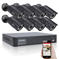 Zosi 720 p hd 1200tvl sistema de cámaras de seguridad al aire libre 1080 p hdmi cctv video vigilancia 8ch dvr kit cámara ahd conjunto
