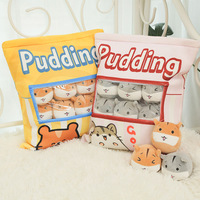 6pcs small hamster plush toys in one bag life like pudding food soft pillow toys for children Xmas gift summer use present
