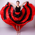 Women's cheap fashion Flamenco skirt Gypsy Flamenco Spain Belly Dancers Polyester Belly dance Skirts