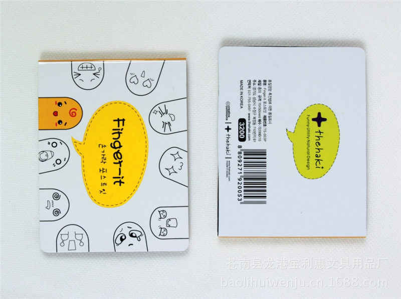 1X น่ารัก 200 Pages สติกเกอร์บุ๊คมาร์ค Point It MARKER Memo Pads Flags Finger Sticky Notes สติกเกอร์กระดาษสำหรับ