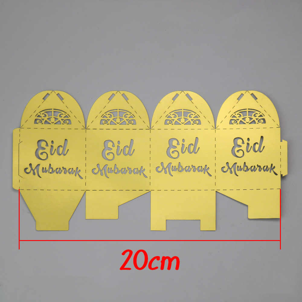 10 chiếc EID Mubarak Kẹo Tặng Túi Quà Tặng Xí Ngầu Đóng Gói Hộp nơ Ramadan Đồ Trang Trí Đảng Hồi Giáo DIY Trang Trí