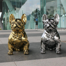 Large Bull Dog Decoration Cute Resin Dog European Pop Art Resin Craft Dog Figurine Home Artificial Dog Crafts Christmas Gift
