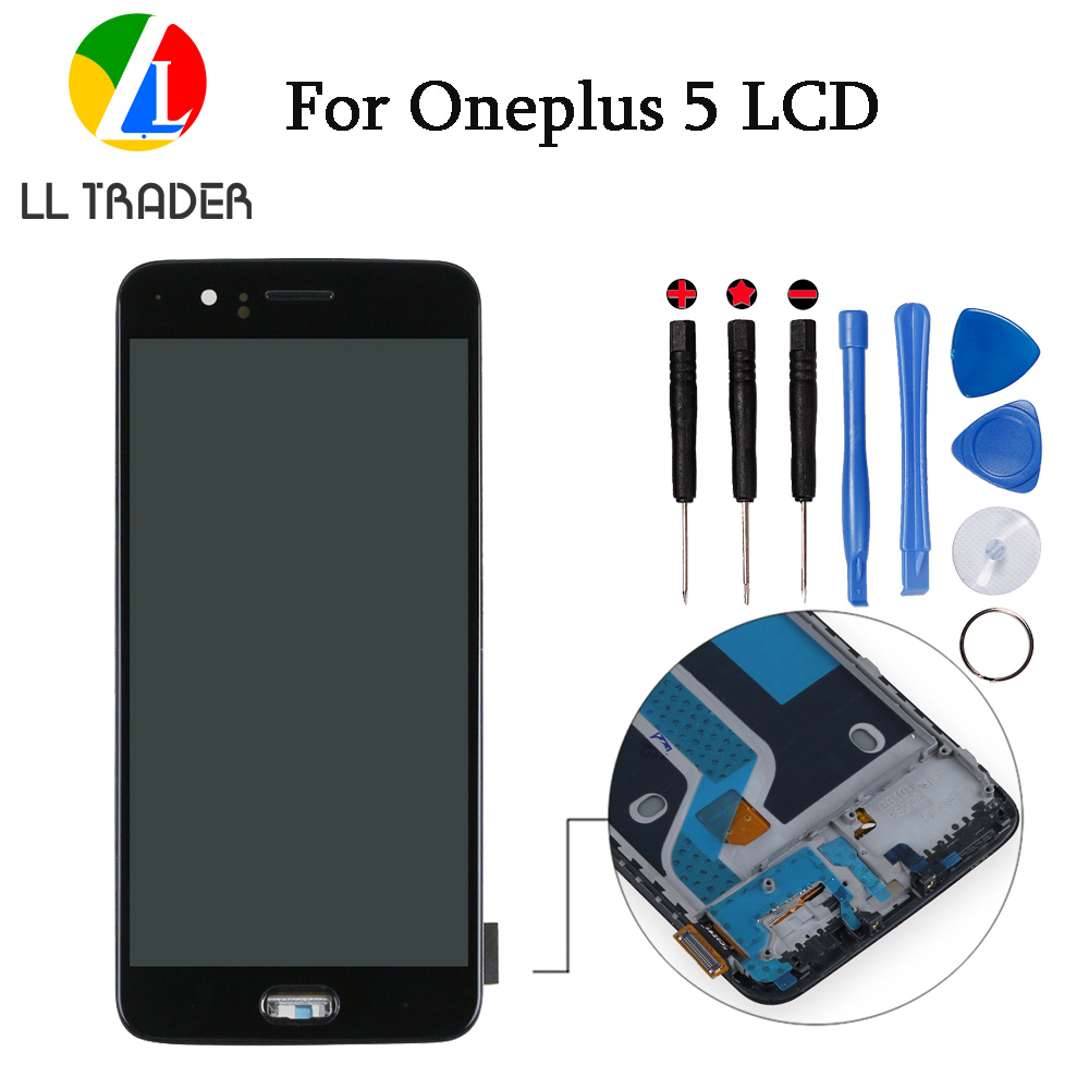 LL TRADER 5.5'' Touch LCD Assembly For Oneplus Five A5000 Display Screen Replacement Frame Digitizer Oneplus 5 LCD Glass +Tools