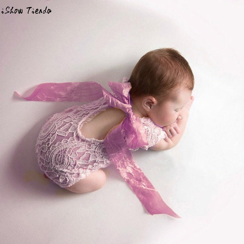 font b Baby b font Cap Newborn Bowknot Ribbon Lace Conjoined Jersey Hundred Days Photography