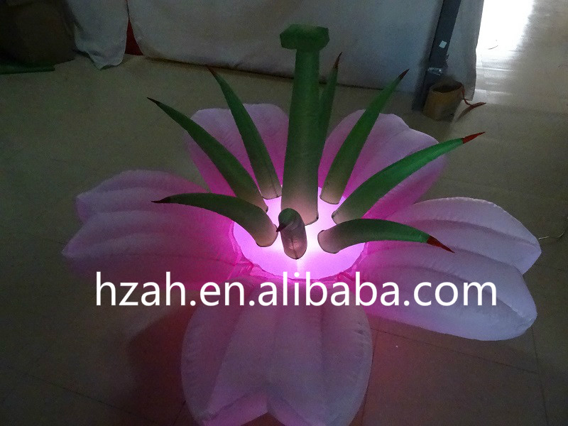 Wedding Decoration Inflatable Pink Gradient Flower with LED Light new design wedding inflatable flower arch with leaves