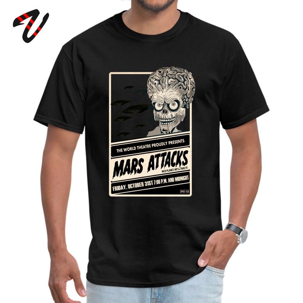Mars Attacks! Discount Men T Shirt Crew Neck Short Sleeve 100% Cotton Tees Summer T Shirt Top Quality Mars Attacks! -2878 black