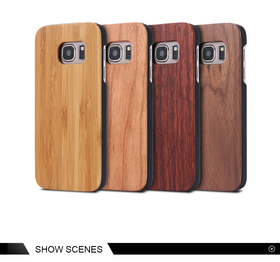 For Samsung Galaxy S8 Plus Real Wooden Case For Samsung S8 Galaxy S7 S6 Edge Back Cover (8)