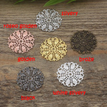 25mm beads for Jewelry DIY bracelet necklace earring Pendants Rings Scrapbook rivet hair Accessories vintage peacock tail wh(China)