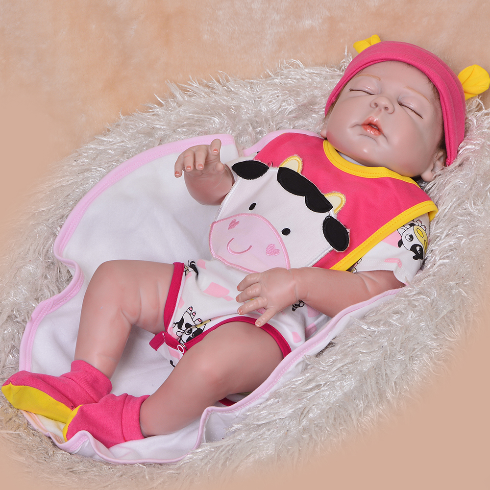 57cm NPK Baby Reborn Doll Whole Silicone Baby Toy Baby Dolls Lifelike Toddler Soft Simulate Real