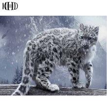Bestseller Big Cat Pattern 5D Diy Diamond Embroidery Full Square & Round Diamond Painting 3D Cross Stitch Kit Decorative Sticker