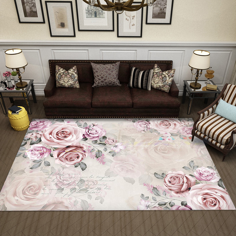 Modern American Style Living Room Coffee Table Carpet Simple Bedroom Retro Art Garden Creative Mat in Carpet from Home Garden