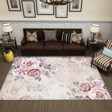 Modern American Style Living Room Coffee Table Carpet Simple Bedroom Retro Art Garden Creative Mat