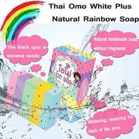 Thai Fruit Rainbow Soap Whitening Pure Natural Fruit Soap Facial Bath Handmade Soap 100g