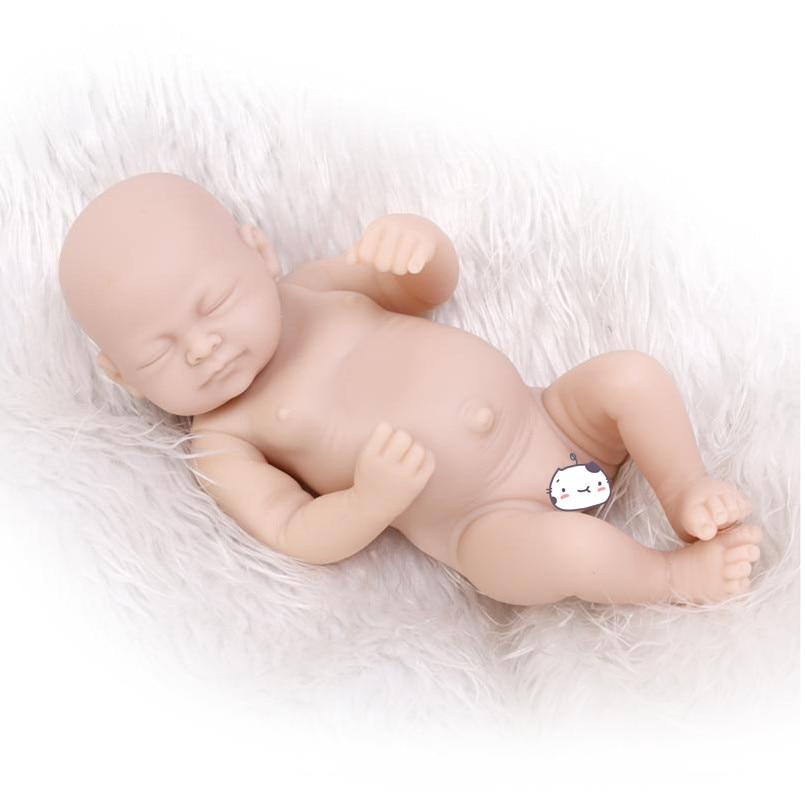 Reborn Kit Baby Hot Full Solid Soft Silicone Handmade DIY Kits for Lifelike Doll