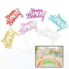 IVYSHION торт флаг кекс топперы на день рождения Декор на день рождения принадлежности на день рождения детский торт Топпер с днем рождения кекс топперы