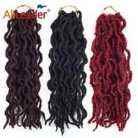 Alileader Products Faux Locs tresse bouclée cheveux synthétiques tressage cheveux 20 brins/Pack Crochet tresses Extensions de cheveux bourgogne