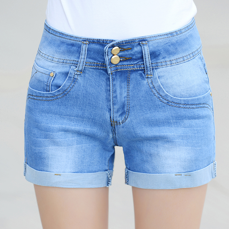 Hot Summer Jeans   Shorts   Women Casual   Short   Sexy High Waist Denim   Shorts   Women Clothes Plus Size   Shorts   Jeans 26-36