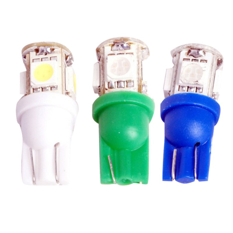 Car-styling 10Pcs Car lights License Plate Reading 1W 12V T10 5050 5SMD LED Auto Reading Driving Light Sourcing 10 mm 7801