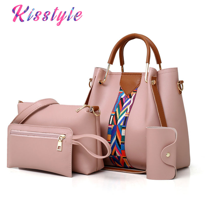 Impartial Kisstyle 2018 Luxury Women Bag Embroidery Pu Leather Shoulder Bags Famous Designer Fashion Female Messenger Bags Composite Bags Famous For Selected Materials Novel Designs Delightful Colors And Exquisite Workmanship