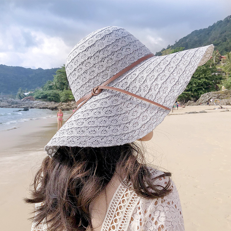 LANMREM 2020 Spring And Winter New Casual Fashion Temperament Women Loose Plus Solid Color Hollow Beach Hat TC585