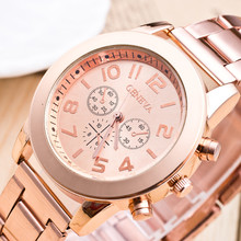 2017 Luxury Lovers Couple Watches Men Women Gold Stainless Steel Quartz Wristwatch Montre Homme Women's watch Relogio Feminino