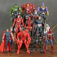 Marvel Comics Venom Carnage Spiderman Thanos Thor Deadpool Hulk Hulkbuster Iron Man Antman Action Figure Toys 14pcs/set