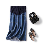 Maternity Skirt for pregnant Women Maternity Denim Skirt Long Maxi Maternity Fashion Pregnancy Skirt Korean Maternidad Clothes