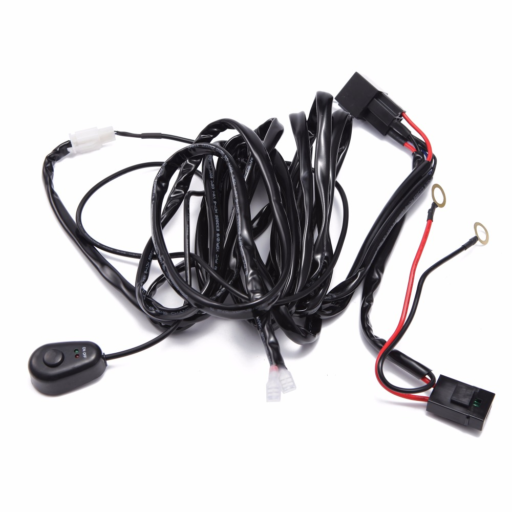 Car Light Wire Harness Loom Kit Offroad Led Worklight Bar Driving Off Road Wiring Refit Lamp Extension 2m 25m 3m Cable Controller In Work From