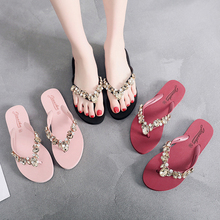 2019 Fashion Women Slippers Crystal Flip Flops Flat Shoes Spring/Summer Female Shoes Casual Lady Shoes Woman Footwear hot sale 2016 summer woman shoes rhinestone flat woman shoes fashion casual shoes wild concise female flip flops dt194