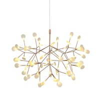 Modern Glass Acrylic Black Gold LED Firefly Pendant Light For Hall Shop Lustres Hanglamp Suspension G4 Luminaria AC85 260V