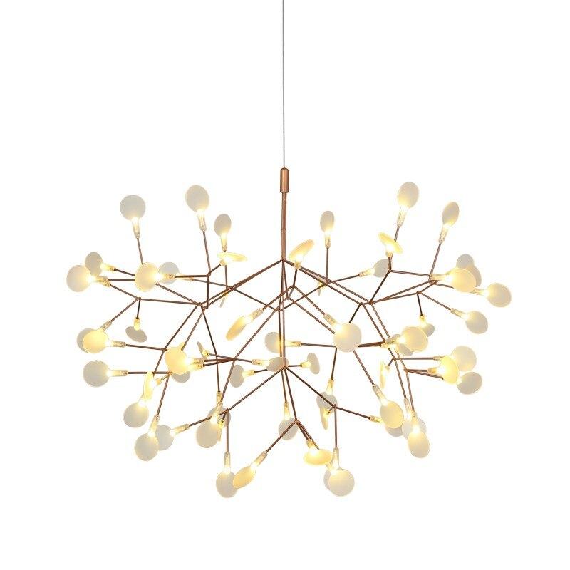 Vidro moderno acrílico preto ouro led firefly luz pingente para salão loja lustres hanglamp suspensão g4 luminaria AC85-260V