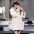 New Winter Women Warm Faux Fur Coat Women Luxury Elegant Big pockets Mink Fox Jacket 3 Colors HX2