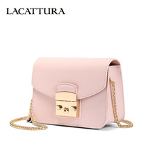 LACATTURA Mini Candy Bag Women Messenger Bags Cowhide Leather Brand Handbag Ladies Chain Shoulder Bag fashion Crossbody new item