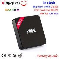 H96-III Android 7.1 TV Box RK3328 Quad Core 64bit Cortex-A53 4 GB/32 GB USB 3.0 Wifi 4 K VP9 H.265 HDR Mediaspeler PK H96 tv box