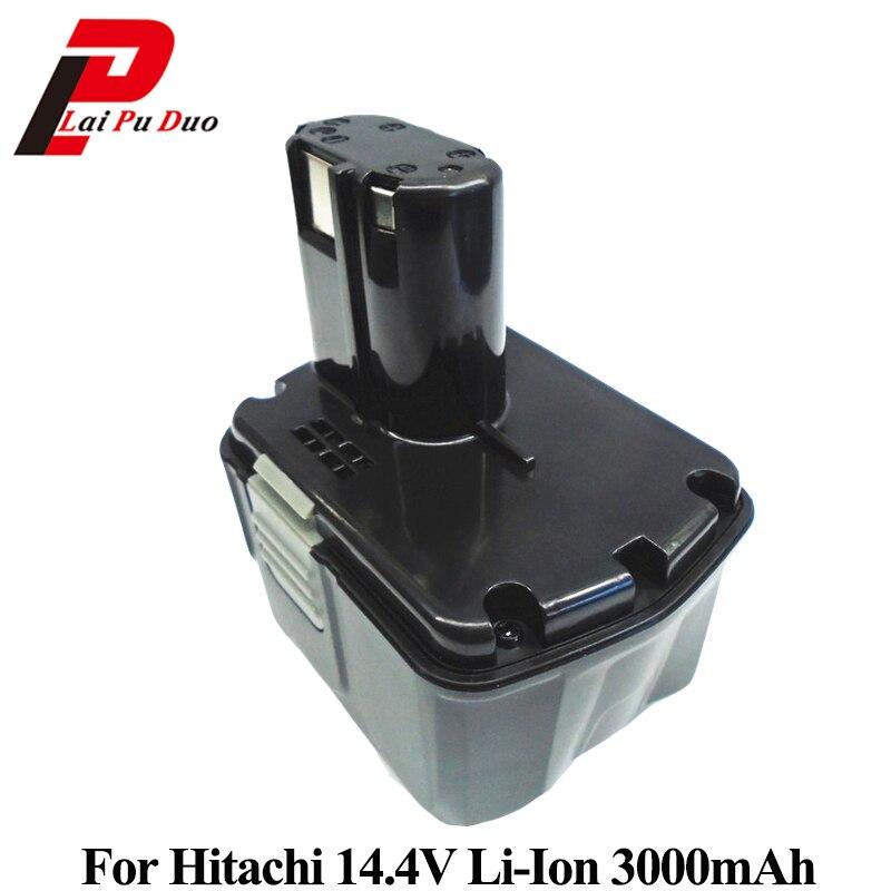цена на 14.4V 3.0Ah Li-ion Power Tool Replacement Battery For Hitachi CJ14DL DH14DL EBL1430 BCL1430 BCL1415