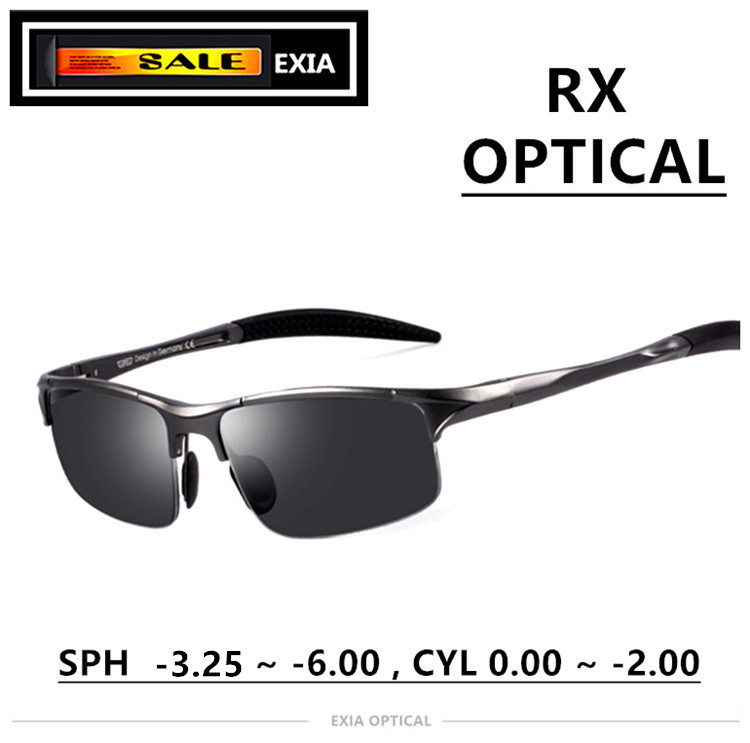Hombres gafas de sol polarizadas lentes de prescripción de gafas de ...