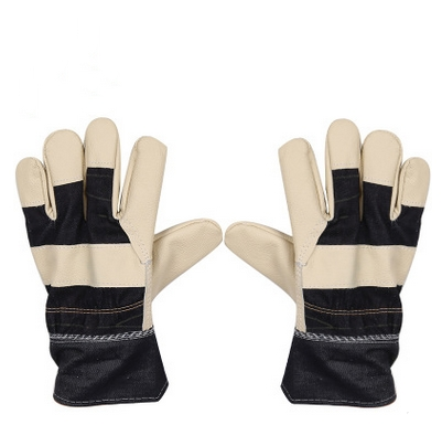 The first layer of furniture skin palm welding gloves wear insulation thickening leather protective gloves utilization of palm oil mill wastes