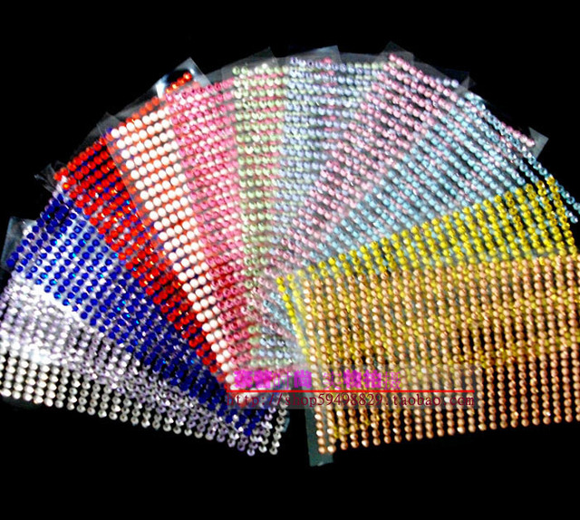 567units/Pc 3D Acrylic Crystal Rhinestone Sticker Self Adhesive arieties Colors