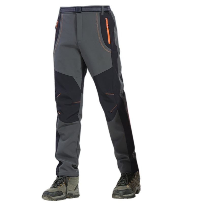 Male Outdoor Windproof Waterproof Softshell Fleece Snow Pants Hiking Camping Hiking Pants Thermal  Autumn Winter Trousers New
