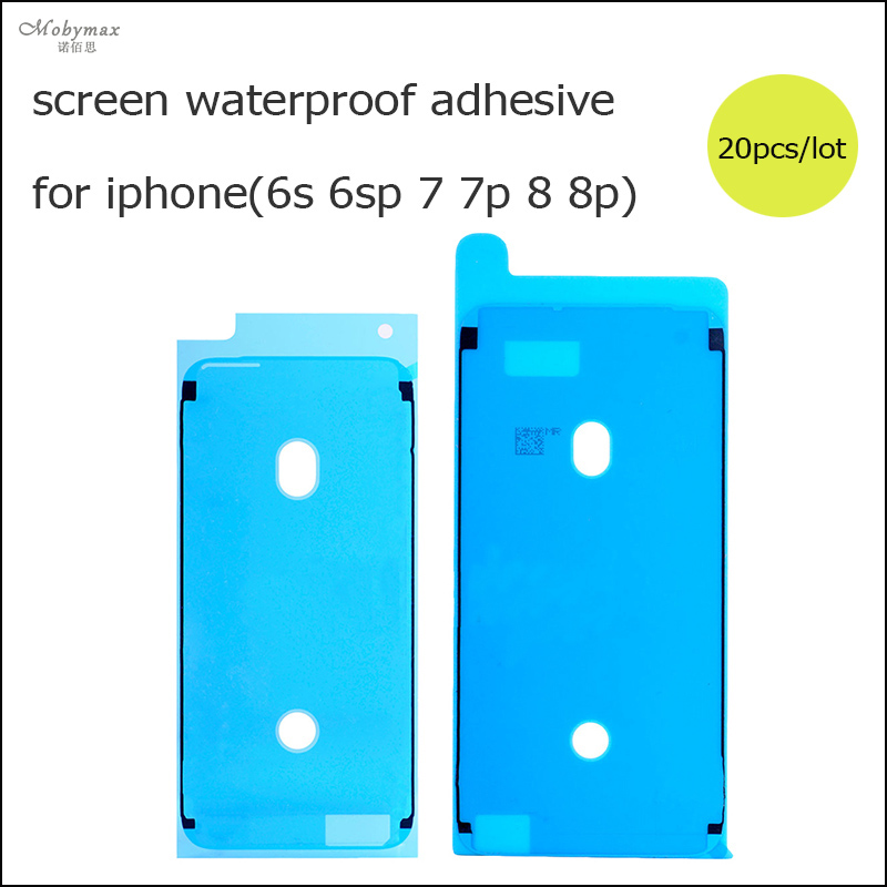 Moybmax 20pcs/lot Waterproof Adhesive Sticker For iPhone 6s 6sp 7 7p 8 8p 3M Pre-Cut Glue Front Screen LCD Frame Tape