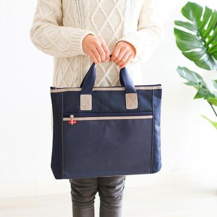 Office Document Bag Portable Briefcase A4 Document File Organizer Holder Bag 14 Inch Laptop Bag Hand Bag