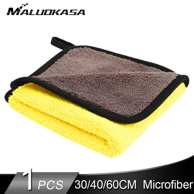 Cloth Towel Washer Microfiber Detailing Auto Car-Cleaning 1PC Hemming 40/60CM