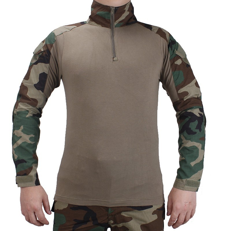 Male Camouflage T-shirts Army Combat Tactical T Shirt Military Men Long Sleeve T-Shirt Hunting T-shirts With elbow pads fashion long sleeve o neck t shirt 2017 new arrival men t shirts tops tees men s cotton t shirts 3colors men t shirts m xxl