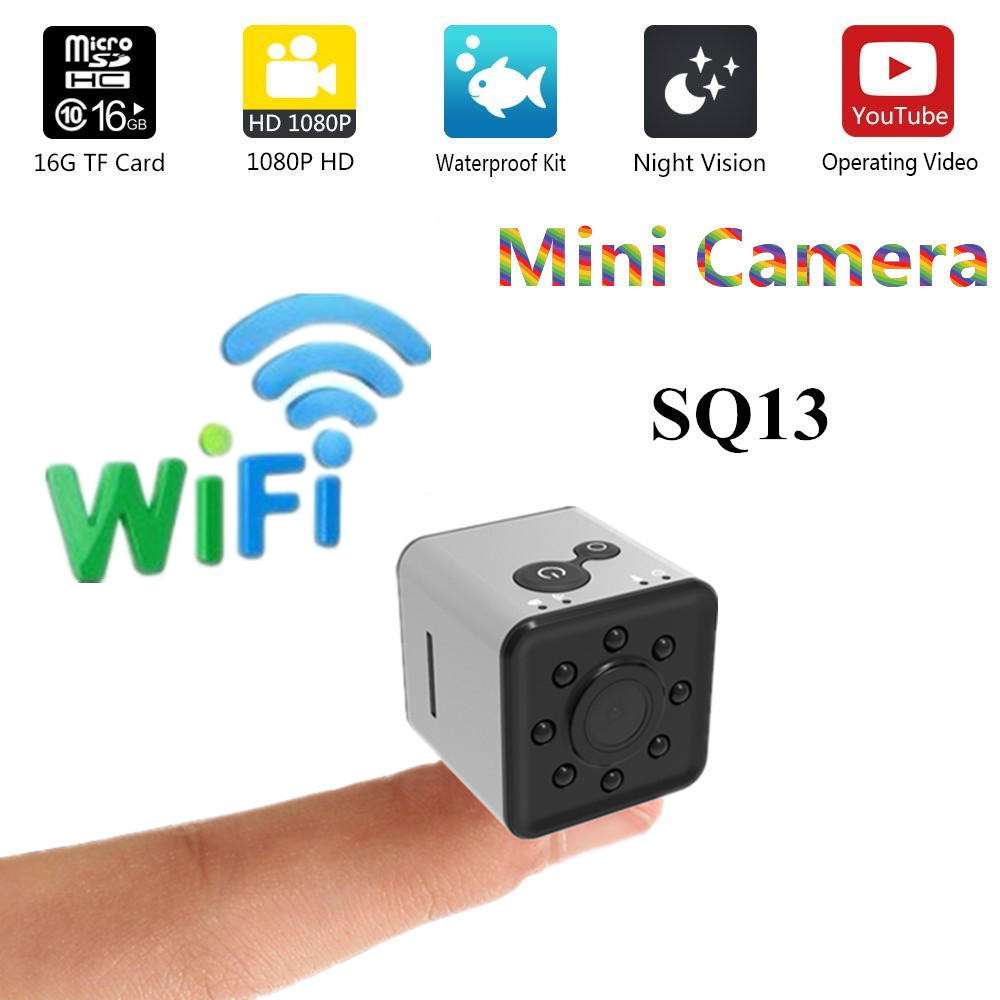 SQ13 HD mini wifi della macchina fotografica piccola camma della macchina fotografica 1080 p Wide Angle Impermeabile MINI Videocamera Portatile DVR video di Sport micro Videocamere SQ 13
